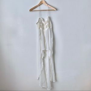 Urban Outfitters Cream Lace and Chiffon Slip